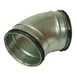Ventilationsböj 45° stl 080mm för ventilation