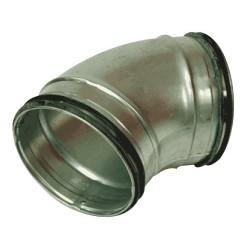 Ventilationsböj 45° stl 125 mm för ventilation