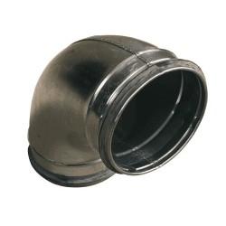 Ventilationsböj 90° stl 125 mm för ventilation