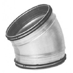 Ventilationsböj 30° stl 125 mm för ventilation