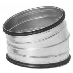 Ventilationsböj 15° stl 125mm för ventilation