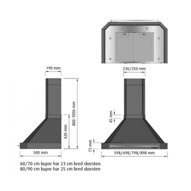Bilder Koksflaktar : Fjoroskupan Exklusiv Rostfri 90cm