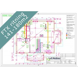 Ventilationsritning FTX system 2-plan 141-180 m2