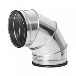 Ventilationsböj 90° stl 400 mm för ventilation