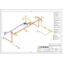 FTX system Ventilationsritning