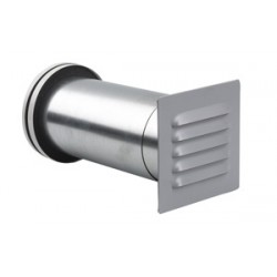 ABC-GCT 200 Vit Friskluftsventil med Zinkgrå galler