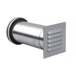 ABC-GCT 125 Vit Friskluftsventil med Zinkgrå galler