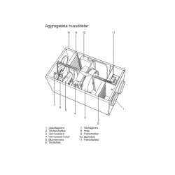 Fläkt Woods RDAE-99-04 Elvärmare 1000 W