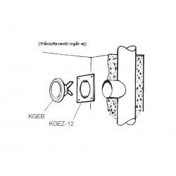 Fästram KGEZ-12-12 125mm Vit (Frånluftsventil ingår ej)