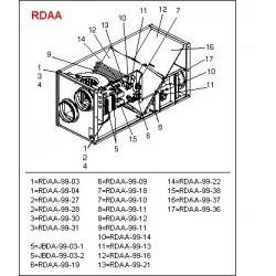 RDAA-99-04 Fläktmotor och reservdelslista