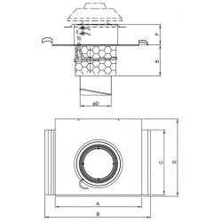 Systemair TOB 125 Profil takgenomföring grå