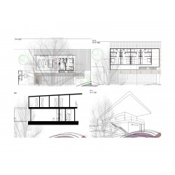 Arkitektritning 3-plan 301-350 m2