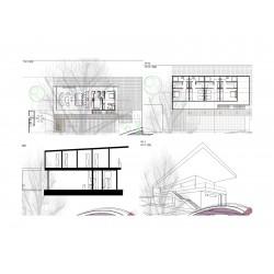 Arkitektritning 3-plan 351-400 m2