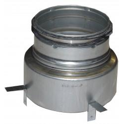 Ventilfäste med reduktion 125-100 Muff-Nippel