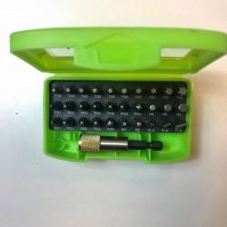 Bitssats 30+1 delar med bälteshållare