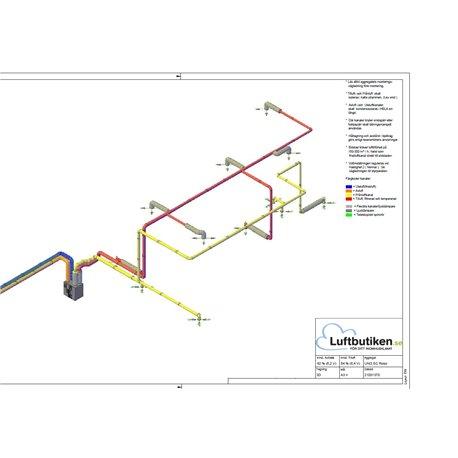 FTX Ventilationspaket -220 m2 (1-plan) 3D