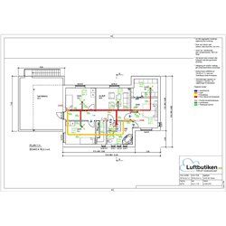 FTX Ventilationspaket -120 m2 (1-plan)