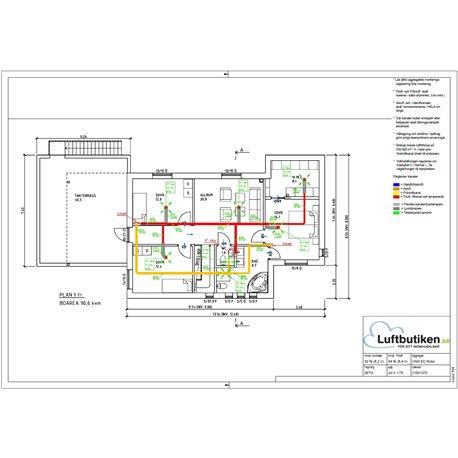 FTX Ventilationspaket -120 m2 (1-plan)