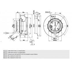 Fläktmotor R3G190-RG23-03