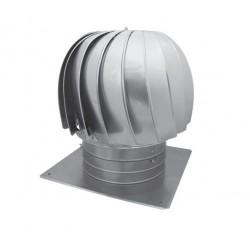 Självdragshuv 250 mm med bottenplatta