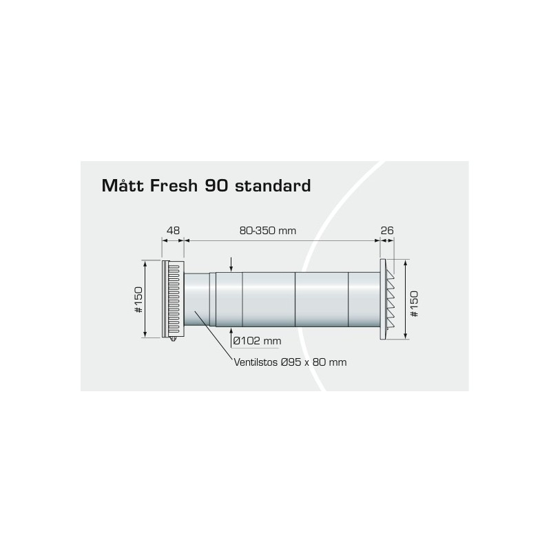 Fresh ventil 90