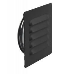 Ytterväggsgaller ABC–GC Svart 125mm