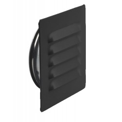 Ytterväggsgaller ABC–GC Svart 160mm