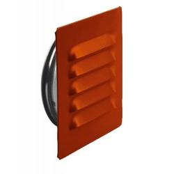 Ytterväggsgaller ABC–GC Tegelröd 125mm