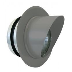 ABC-VD Zinkgrå 125mm med fläns